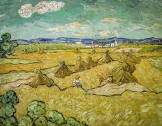 Vincent van Gogh (formely attributed to..) - Wheat Field with Reaper (Nationalmuseum - Stockholm) at Van Gogh Repetitions Exhibit - Phillips Collection Art Gallery Washington DC (Catalog Book)
