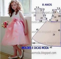 7 patterns for dress sewing ( Dresses for girls) Baby Dress Patterns, Sewing Patterns For Kids, Clothing Patterns, Sewing Ideas, Sewing Tips, Sewing Tutorials, Little Girl Dresses, Girls Dresses, Dresses Dresses
