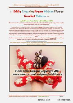 Heidi Bears - Eddie Lives The Dream African Flower (c) - gurumi var - Picasa Web Albums