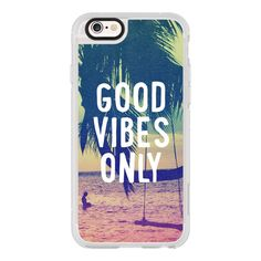 iPhone 6 Plus/6/5/5s/5c Case - Good Vibes Only Summer Beach California... ($40) ❤ liked on Polyvore featuring accessories, tech accessories, iphone case, apple iphone cases, iphone cases, iphone cover case and iphone hard case