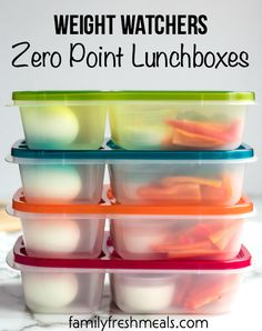 Weight Watchers Zero Point Lunchbox #easylunchboxes #familyfreshmeals#healthylunch #ww #weightwatchers #cleaneating #worklunch