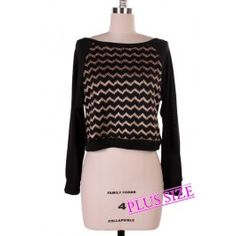 http://www.salediem.com/shop-by-size/xl-2xl-3xl/plus-hounds-tooth-print-top.html  #salediem #plusdresses #plusfashion