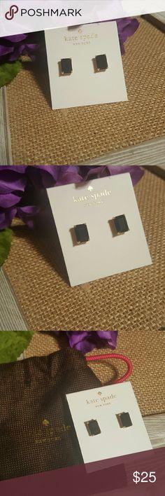Kate spade earrings Pretty emerald cut dark navy, almost black stone. Kate spade earrings kate spade Jewelry Earrings