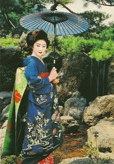 old pc of Japanese lady - Geisha Japan, Japanese Geisha, Japanese Beauty, Japanese Kimono, Japanese Art, Asian Beauty, Kimono Japan, Costumes Japan, Kimonos
