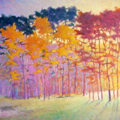 Ken Elliott  GOLD CASCADE  oil on canvas, 40 x 40