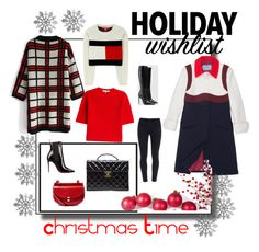 """""""ChristmasTime"""" by steffyyeah on Polyvore featuring moda, Prada, Tommy Hilfiger, Chicwish, Paige Denim, Gucci, Chanel, Chloé e Carven"""