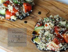 Member Recipe: Quinoa Stuffed Mushroom!