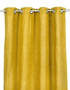 Harmony - Rideaux en lin lavé Propriano - Jaune Absynthe - 140x280 cm - marque française design. Rideaux salon ou chambre apportant touche chic et moderne.