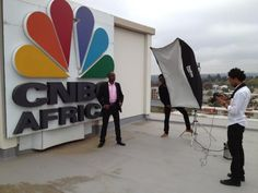 CNBC's Larry Madowo at a CNBC Africa photo shoot. (via Paul Vestact)