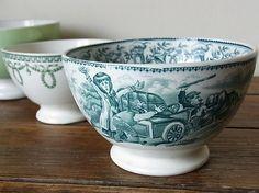 """cafe au lait bowl """"AUTO"""" BOCH Belgium 1900"""