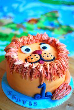 Lion birthday cake
