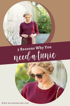 Tunics are the best tops to style. Hands down! Now, you may be asking yourself WHY are they the best tops ever. Today I'm giving you three reasons why you need to purchase a tunic to add to your wardrobe (if you don't already!). And, if you do already own a tunic, what's one more right?! #glamour #fashionista #styletips