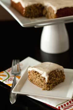 Spiced zucchini cake with cream cheese icing... Another way to use up all the zucchini overtaking our vegie patch!
