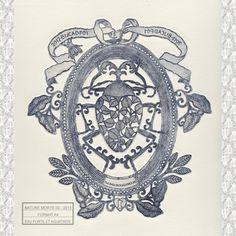 Estampe - Nature morte 02 - Michaël Cailloux  Exposition au 107,Rivoli - Boutique du musée des arts décoratifs de Paris