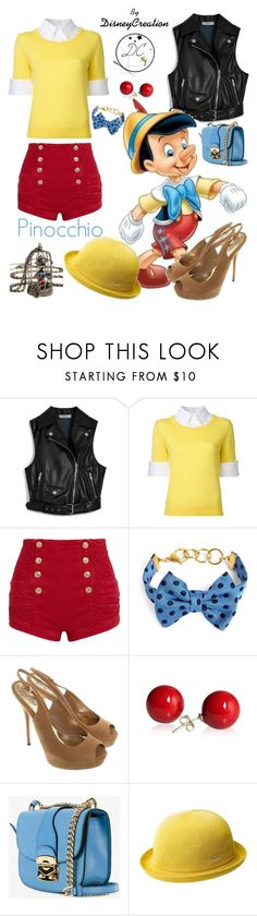 """""""pinocchio - By DisneyCreation"""" by disneycreation ❤ liked on Polyvore featuring Mulberry, Mary Katrantzou, Pierre Balmain, Brooks Brothers, Gucci, Miu Miu, kangol and Disney"""