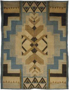 French Art Deco rug by Regina Gomide Draz.