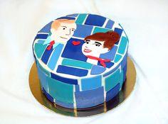 Mad Men inspired wedding cake #retro by Cake Hero