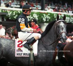 Happy 26th birthday, champ and fan fav HOLY BULL, here w/ Mike Smith up at Saratoga before Travers' win