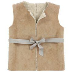 Il Gufo Imitation sheepskin vest Beige - 53357 | Melijoe.com
