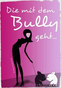 Die mit dem #Bully geht...  © fb.wau.wau.rudeltier  © fb.wau.wow.Pink