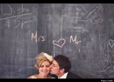 chalkboard prop wedding/engagement photos