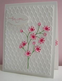 Stamping with Loll: Pink Blossoms