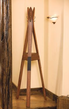 Ski coat rack made of old vintage skis. Use them skis to hang your winter gear or everyday coats.