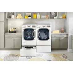 LG Electronics 27 in. Laundry Pedestal with Storage Drawers for Washers and Dryers in White-WDP4W - The Home Depot Laundry Room Storage, Storage Room, Storage Drawers, Room Organization, Laundry Pedestal, Washer And Dryer Pedestal, Laundry Supplies, Tub Cleaner, Lg Electronics