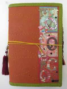 Incorporate meaningful embellishments: the tassel for this Morocco travel journal comes from a market stall in Marrakesh