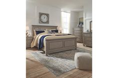 Lettner Light Gray Sleigh Bed with Storage Sleigh Beds, Furniture Deals, Bedroom Furniture, Bed Designs With Storage, King Bed Headboard, California King Mattress, Bedroom Sets, Master Bedroom