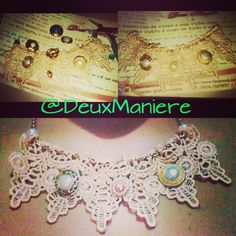 Necklaces chain, torchon and buttons  follow on instagram and twitter @deuxmaniere to see more accessories