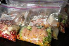 Make and freeze crock pot meals