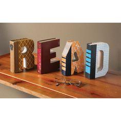 R-E-A-D Books Sculpture