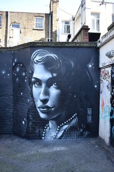 Amy Winehouse by Philth in Miller street - Camden town - London - England