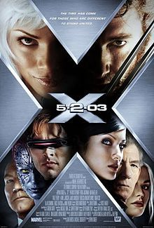 Poster shows a big X, within which are the faces of the film's main characters, and in the center the film's name.6.7/10