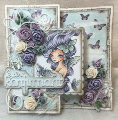 Et konfirmasjonskort laget for Papirdesign Floral Wreath, Stamp, Wreaths, Cards, Decor, Floral Crown, Decoration, Door Wreaths, Stamps