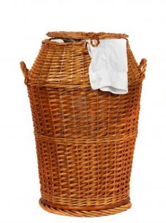 This genuine wicker HAMPER will make the Laundress in your life proud to scrub your shirts!