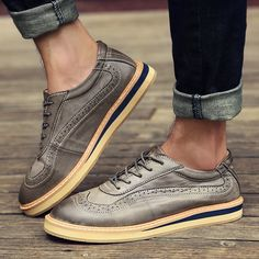 Spring Autumn Winter Fashion Male Casual Brogue Shoes With/No Plush Bullock Carved Vintage Thick Sole Platform Male Flats Shoes