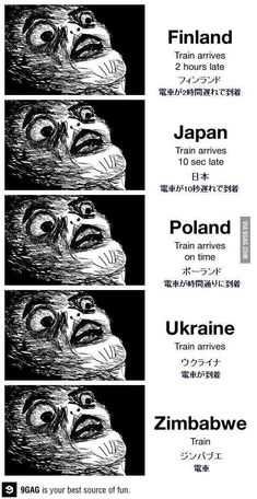 Train around the world. Wtf Funny, Funny Cute, Funny Jokes, Funny Images, Best Funny Pictures, Japan Train, Creepy Cat, Japanese Quotes, Wtf Moments