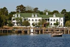 Roanoke Island Inn in Manteo, NC....so charming...beautiful rooms...great service....lovely gardens...