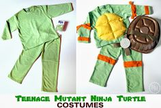 Teenage Mutant Ninja Turtle Costumes (TMNT) - can be made for less than $15!