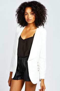 boohoo Tania Zip Pocket Waterfall Blazer - white Coats and jackets are a key component for staying snug and statement this season Coats and jackets are a seriously statement staple this season. Whether you're taking on timeless with a trench, keepin http://www.comparestoreprices.co.uk/womens-clothes/boohoo-tania-zip-pocket-waterfall-blazer--white.asp