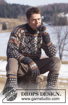 Men - Free knitting patterns and crochet patterns by DROPS Design Knitting Designs, Knitting Patterns Free, Free Knitting, Nordic Sweater, Men Sweater, Norwegian Knitting, Drops Design, Fair Isle Knitting, How To Purl Knit