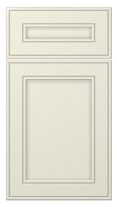 westcoast door style :: painted :: antique white #kitchen #cabinets #doors