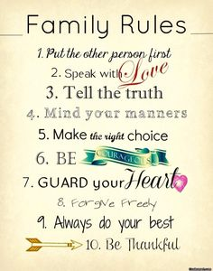 Family quote: family rules: put the other person. Famous Quotes About Family, Family Quotes Images, Best Family Quotes, Family Rules, Best Quotes, Funny Quotes, Quote Family, Family Sayings, Family Values Quotes