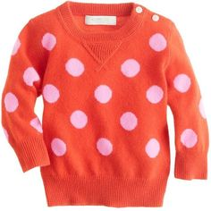 Collection Cashmere Baby Sweater In Polka Dot ($145) via Polyvore