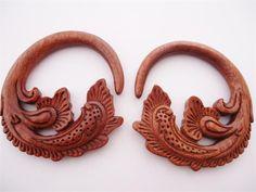 Diablo Organics Blood Wood Lea Hooks (8 gauge - 1/2 inch)