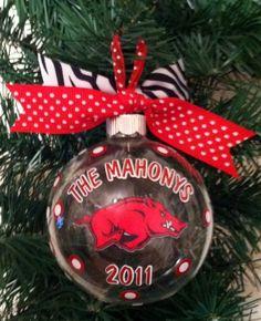 Personalized Razorback Ornament!