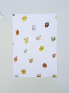 Cats A5 Art Print  https://tictail.com/theartofbeingholly  #cat #catart #cats #cuteart #watercolourcat #catgift