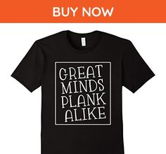 Mens Funny Workout T-Shirt - Great Minds Plank Alike 3XL Black - Workout shirts (*Amazon Partner-Link)